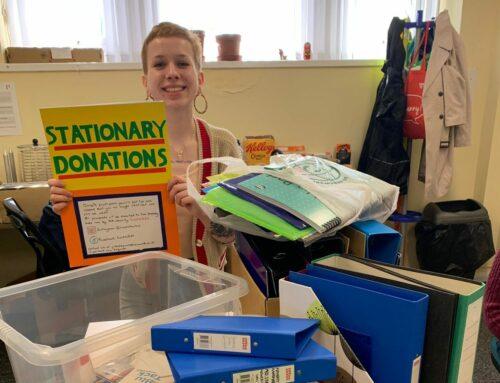 Gabriella's donation collecting success