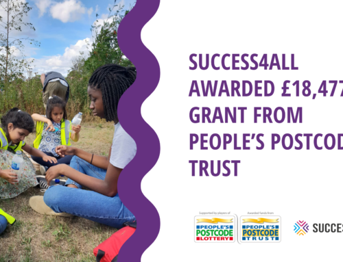 Success4All Awarded £18,477 Grant from People's Postcode Trust